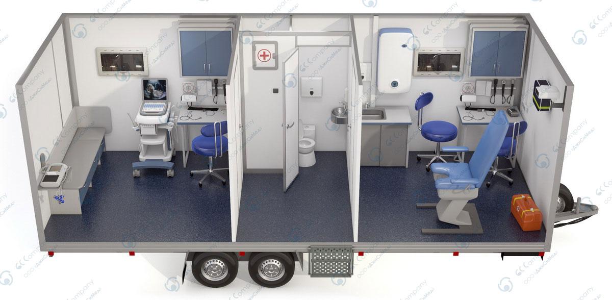 Мобильный лечебный комплекс интерьер