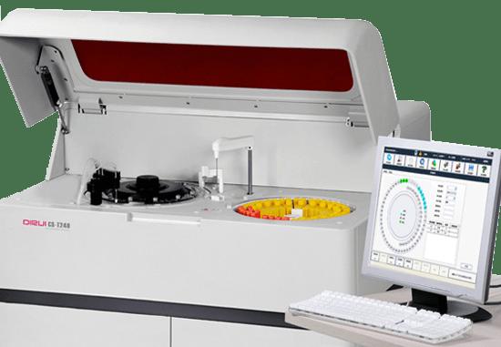 Анализатор Dirui CS-T240 прост в эксплуатации